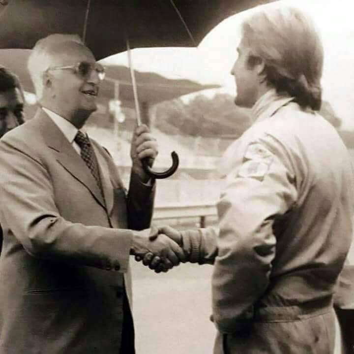 Enzo Ferrari y Carlos Reutemann