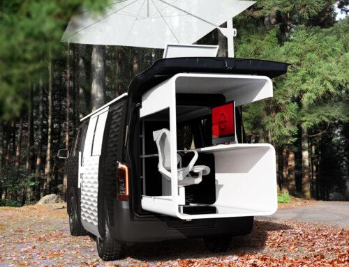 Nissan NV350 Office Pod Concept..Furgoneta camper en versión oficina modular para teletrabajadores.
