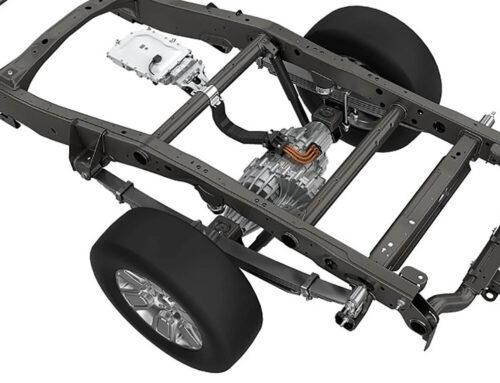 Sistema Magna para la electrificación de pick up y vehículos comerciales con un eje trasero rígido con motor eléctrico integrado