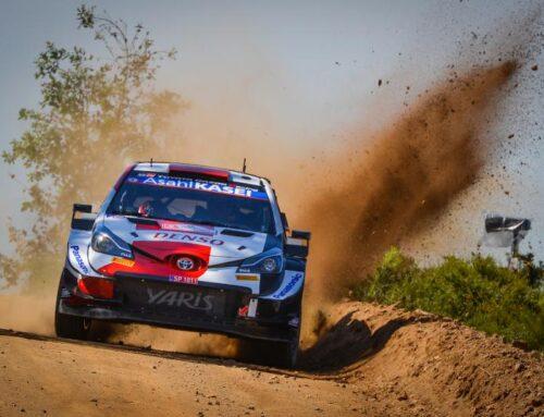 Rally de Portugal WRC Elfyn Evans con Toyota Yaris ganador en Portugal