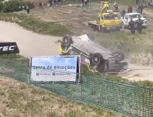 Rally de Portugal WRC 2021 accidente en el famoso salto Fafe… (puede fallar a veces)