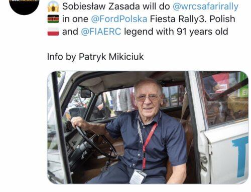 El piloto polaco Sobiesław Zasada retorna al WRC Mundial con 91 años…lo hará en el Rally Safari de Kenia con un Ford Fiesta Rally3.