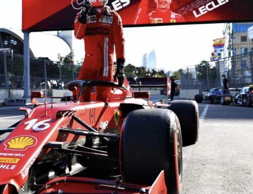 Fórmula uno en Azerbaiyán: Leclerc (Ferrari) logra la pole acompañado por Hamilton en la primera fila.