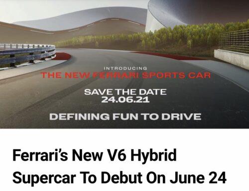 Un nuevo superdeportivo híbrido V6 de Ferrari será presentado el 24 de junio