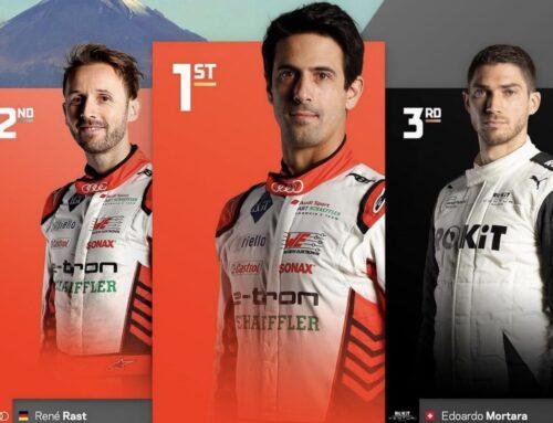 Fórmula Eléctrica en Puebla, México, carrera del sábado: Con Wehrlein dominador de la competencia desclasificado la victoria se la llevó Luca di Grassi (Audi)
