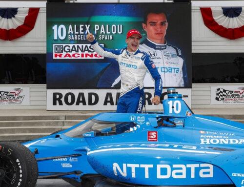 IndyCar…ALEX PALOU TRIUNFA EN ROAD AMERICA (Dallara DW12-Honda) cuando parecía que Newgarden se llevaba la victoria.