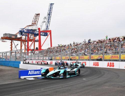 Fórmula eléctrica / E-Prix New York carrera 2 para Sam Bird con Jaguar.