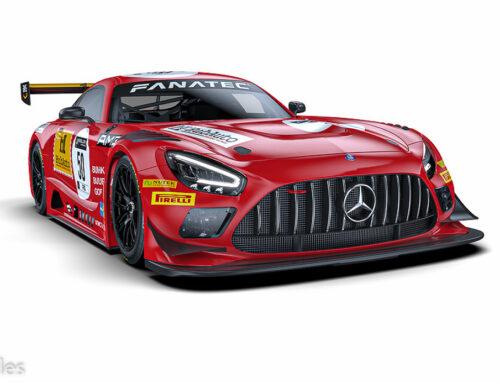 Mercedes Benz ha hecho una decoración muy especial en un AMG GT3 para recordar el 50 aniversario de su participación en las 24 horas de Spa.