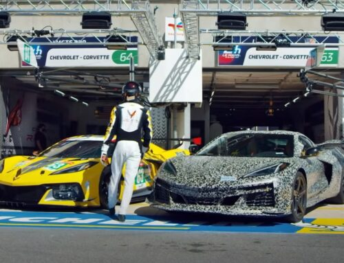 El nuevo Chevrolet Corvette Z06 se mostró como anticipo en el box de Le Mans, y ya tiene fecha de presentación..el 26 de octubre.