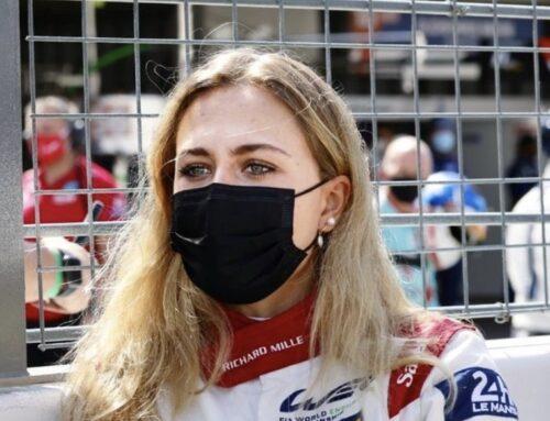 La señorita Sophia Floersch piloto del Oreca 07-Gibson #1 del equipo Richard Mille todo femenino se manifestó «frustrada y enojada» después de su accidente causado por Franco Colapinto (Aurus 01- G Drive) y que le provocó su abandono.
