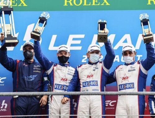 Juan Pablo Montoya ganó en la clase LMP2 de LeMans y logró así una mini Triple Corona simbólica..