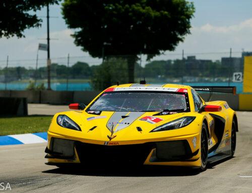Los Chevrolet Corvette C8.R que compitieron en el Gran Premio de Detroit del Campeonato IMSA lo hicieron con elementos reglamentarios GT3 con miras a prepararse para cuando cambie el reglamento. (Corvette C8.Rs Ran With GT3-Spec)