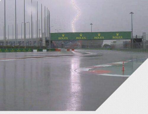 Se canceló la tercera sesión de entrenamientos libres del GP de Rusia 2021 debido a la lluvia que cae sobre la zona y a la imposibilidad de que los monoplazas de Fórmula uno giren sobre pavimento mojado.