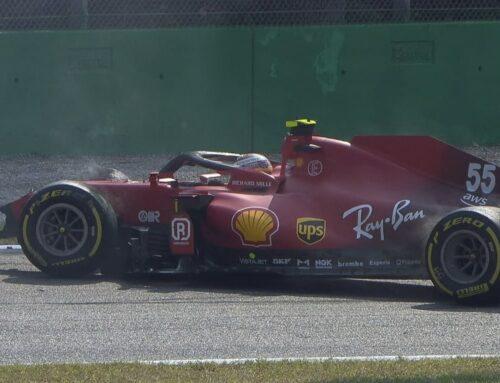 Fórmula uno GGPP de Italia / Pruebas Libres 2 continúa el dominio de Mercedes y Carlitos Sainz vuelve a golpear su Ferrari a pocas horas del sprint.