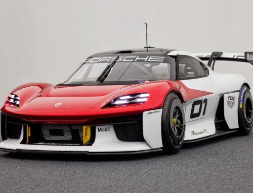 Porsche Mission R… es un auto eléctrico con 1.073 HP que se presentó en el Salón del Automóvil de Múnich y que sirve para darnos una idea del futuro eléctrico en sus autos de carreras aunque también insinúa la próxima generación de autos de calle.