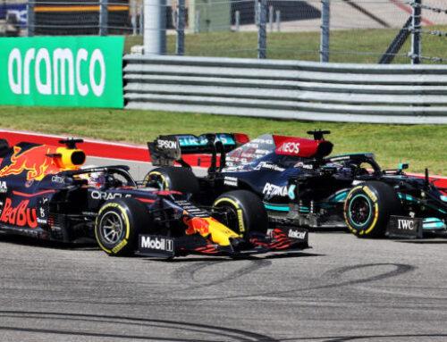 Fórmula 1 / GGPP de EEUU Max Verstappen RedBull-Honda triunfa superando a Hamilton (Mercedes) y Pérez (RedBull) completa el podio.