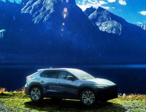 Subaru Solterra por primera vez visto en movimiento.
